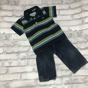 Quicksilver Shirt and Jeans